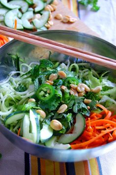 20. Vietnamese Zucchini Noodle Bowl #Greatist http://greatist.com/health/53-healthy-one-pot-meals