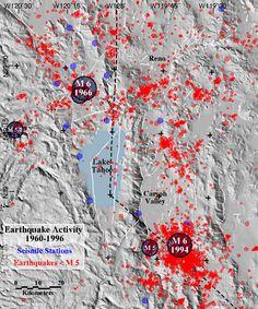 Lake Tahoe seismic map
