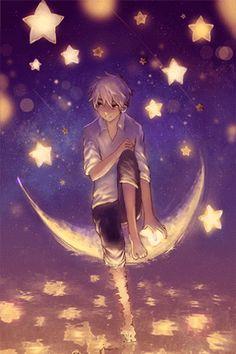 Animation ► bonsoir - (page - excellemment beau Manga Anime, Manga Art, Anime Art, Cute Anime Boy, Anime Love, Anime Guys, Space Anime, Desu Desu, Anime Lindo