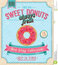 Vintage Donuts Poster. Royalty Free Stock Photo - Image: 29713595
