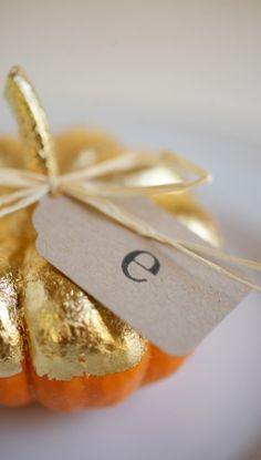 Gilded Harvest Place Cards