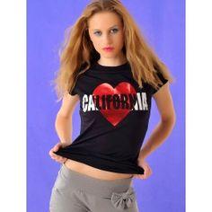 Camiseta Manga Corta Mujer California T316