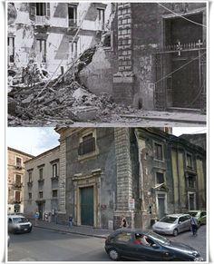 Catania Chiesa di Santa Chiara dopo il bombardamento del 17 #Aprile1943