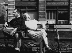 This picture was taken on a warm spring afternoon in the early 1950s.  Private, yet public.  Love in Washington Square.