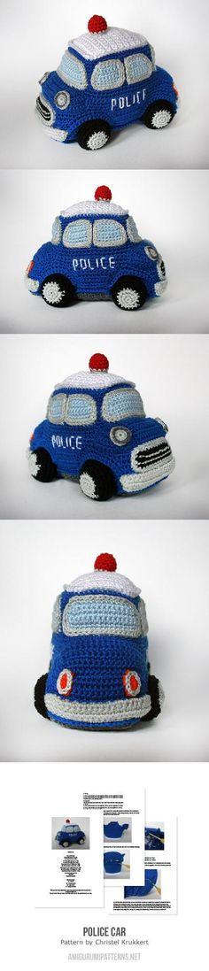 Police Car Amigurumi Pattern