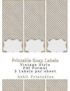 Printable Soap Labels Vintage Style Elegant by AshliPrintables, $8.00