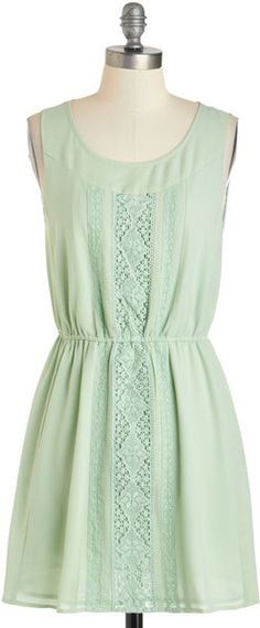 Modcloth Sage My Name Dress in Green (sage) - Lyst
