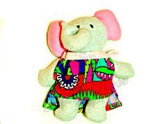 #craftshout0409 Stuffed elephant Elephant toy Elephant by DellaRoseSewnDesigns
