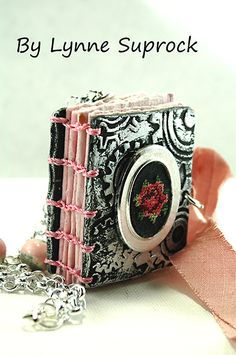 Tiny sculpted journal on Make It Artsy
