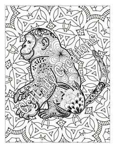 Cats And Hearts Colouring Page