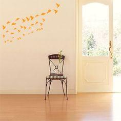 Σμήνος απο διάφορα πουλιά Home Kitchens, Kids Room, Decals, Wall Art, Stylish, Paint, Decorating, Home Decor, Wall Hanging Decor