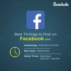 #DidYouKnow The best timings to post on Facebook are Wednesday from 11:00 am –1:00 pm  . . . #Socialache #WednesdayWords #Facts #SocialMediaSolutions #SocialMediamarketing #SocialMedia #ContentCreator #ContentMarketing #DigitalMarketing #SEOServices #DigitalMarketingaAgency #Digital #Followme #Dream #BrandingSolutions #Branding #SocialTips #Passion #WebsiteBuilder #EntrepreneurLife #Business #MillionaireMindset #BusinessOwner Social Media Marketing Companies, Social Media Branding, Content Marketing, Internet Marketing, Effective Marketing Strategies, Professional Seo Services, Content Analysis, Best Digital Marketing Company, Brand Management