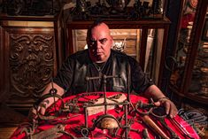Historian Steve Santini, from Ontario, Canada, has a mind-boggling collection of torture instruments and he has tested most of them out on himself. Historian, The Man, Antiques, World, Instruments, Pictures, Collection, Drum, Meet