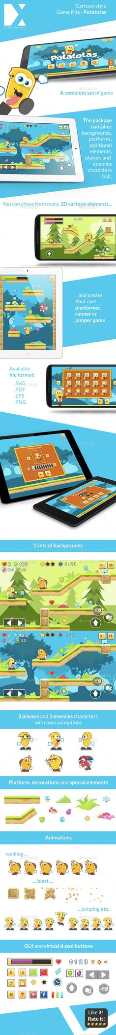 Potatotas - Game Asset Download here: https://graphicriver.net/item/potatotas-game-asset/10128119?ref=KlitVogli