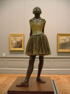 Edgar Degas, Little Dancer of Fourteen Years, cast in 1922 from a mixed-media sculpture modeled ca. 1879–80, Bronze, partly tinted, with cotton