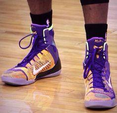 new concept d5134 b9d6b Kobe 9 Elite Lakers Home Court Purple Black Gold