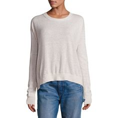 Vince Long Sleeves Cashmere & Linen Pullover ($265) ❤ liked on Polyvore featuring tops, sweaters, apparel & accessories, long sleeve pullover, linen tops, linen sweater, wool cashmere sweater and pullover tops