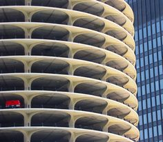 One Car Garage ... Marina City, Chicago, designed by Bertrand Goldeberg