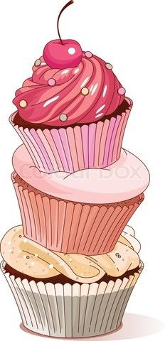 Vector of 'Pyramid of cupcakes'