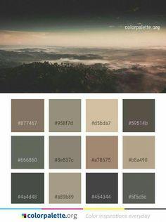 I like the palette. Color Schemes Colour Palettes, Colour Pallette, Color Palate, Colour Combinations, Best Bedroom Colors, Bedroom Color Schemes, Rustic Color Palettes, Soft Summer Palette, Tuscan Design
