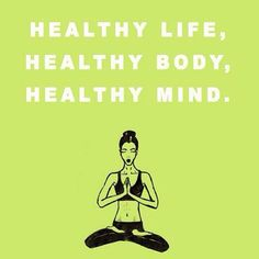 Yes! I want all aspects of my life to be #healthy.