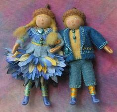 Felt fairies by Salley Mavor. I particularly like the colour scheme of these, it's very springtime-y!