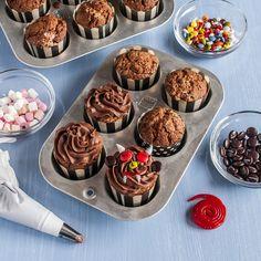 Cupcakes de diablillos de chocolate, recetas con Lacasitos