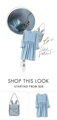 """touch of blues"" by sharmarie ❤ liked on Polyvore featuring Chloé and Puma"