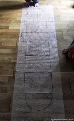 Bubble-wrap hopscotch.  Just add wine and you've got a party!