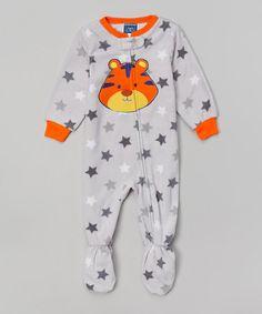 Look at this #zulilyfind! Gray Star Tiger Footie - Infant & Toddler by Candlesticks #zulilyfinds
