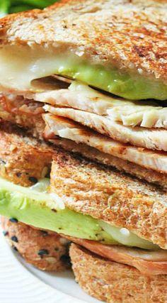 Turkey Avocado Grilled Cheese Sandwich
