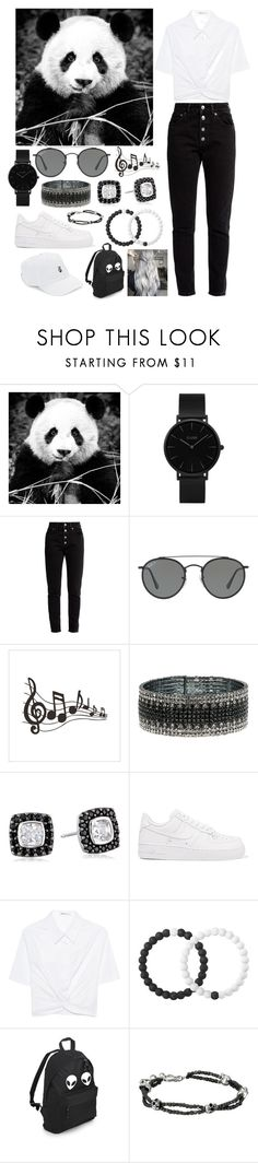 """""""🎶🐼"""" by angela-0 on Polyvore featuring мода, CLUSE, Balenciaga, Ray-Ban, Anne Klein, NIKE, T By Alexander Wang, Lokai, King Baby Studio и Body Rags"""