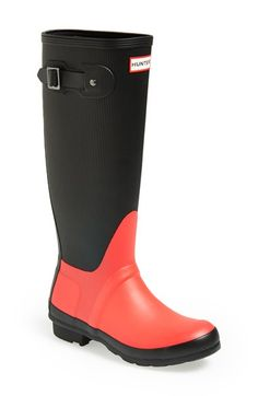 Hunter+'Original+-+Ribbed'+Waterproof+Rubber+Boot+(Women)+available+at+#Nordstrom