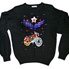 blingy biker sweater