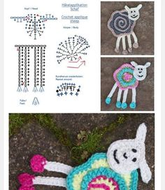 Patrón Oveja de Crochet    Aquí situaré todos los motivos que tengan máximo 1 imagen que estén rea... Form Crochet, Crochet Quilt, Crochet Diagram, Crochet Chart, Crochet Home, Crochet Stitches, Crochet Baby, Irish Crochet, Appliques Au Crochet