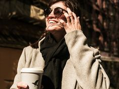 Things made for windy days: Ray-Ban sunglasses and hot chocolate.