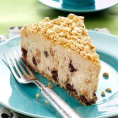 Peanut Butter Cheesecake Recipe -The first time I served this cheesecake, my friends all went wild over it. They were surprised when I told them the crust is made of pretzels. The pairing of sweet and salty, creamy and crunchy, plus peanut butter and chocolate, left everyone asking for another slice. —Lois Brooks, Newark, Delaware