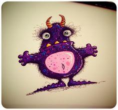 Purple monster guy sketch.