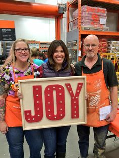 Ana White | JOY Marquee Sign from Home Depot DIH Workshop - DIY Projects