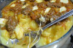 aninha lazzarotto: Polenta com Ragu de Carne e queijo Colonial - as c...