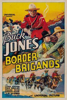 Border Brigands 1935 Buck Jones Cult Western Movie Poster Print | eBay