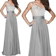 Bridesmaid  Long Chiffon Evening Dress |