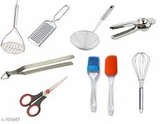 Pressers, mashers & whisks Kitchen Tool (Combo) Material :Plastic,Stainless Steel, Silicon Description : It Has 1 Piece Of Masher,It Has 1 Piece Of Whisker, It Has 1 Piece Of Cheese Greater, It Has 1 Piece Of Spatula Set,It Has 1 Piece Of  Lemon Squeezer  & It Has 1 Piece Of Scissor , It Has 1 Piece Of Papad Holder   , It Has 1 Piece Of Fryer Sizes Available: Free Size *Proof of Safe Delivery! Click to know on Safety Standards of Delivery Partners- https://ltl.sh/y_nZrAV3  Catalog Rating: ★4 (7596)  Catalog Name: Free Gift Elcat Essential Home & Kitchen Utilities Vol 2 CatalogID_197332 C135-SC1659 Code: 373-1518467-