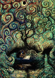 Trippy, morphing GIFs of color. Get lost in a mesmerizing galactic collaboration between James R. Eads and The Glitch.