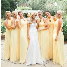 f1470cba755 New Yellow Hater Sleeveless Simple Chiffon A-line Wedding Party Affordable  Formal Bridesmaid Dress.AB1152