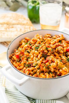 Easy American Chop Suey ready in 30 minutes! Asian Recipes, Beef Recipes, Whole Food Recipes, Cooking Recipes, American Chop Suey, One Pot Dinners, Stuffed Green Peppers, Nutritious Meals, Cooking