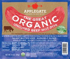 Applegate Hot Dogs - Nitrate free, grass fed beef, no fillers, no antibiotics