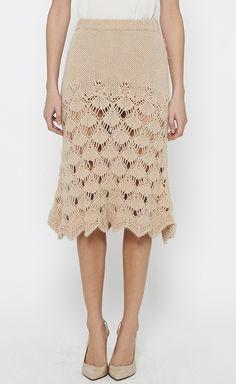 Scallop crochet skirt