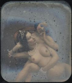 Unknown French Artist - Stereographic View of Two Nude Women, 1840s.