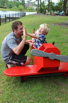 How to Build an Adorable DIY Airplane Play Structure